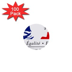 Symbol Of The French Government 1  Mini Buttons (100 Pack)  by abbeyz71