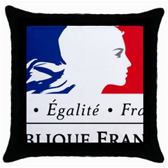 Symbol Of The French Government Throw Pillow Case (black) by abbeyz71