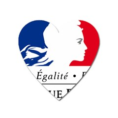 Symbol Of The French Government Heart Magnet by abbeyz71