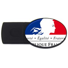 Symbol Of The French Government Usb Flash Drive Oval (2 Gb) by abbeyz71