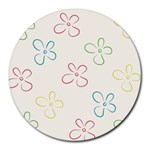 Flower Background Nature Floral Round Mousepads Front