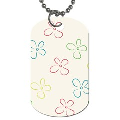 Flower Background Nature Floral Dog Tag (one Side) by Simbadda