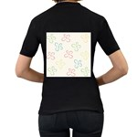 Flower Background Nature Floral Women s T-Shirt (Black) (Two Sided) Back