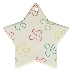 Flower Background Nature Floral Star Ornament (two Sides) by Simbadda