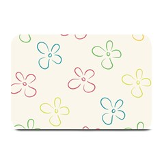 Flower Background Nature Floral Plate Mats by Simbadda