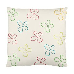 Flower Background Nature Floral Standard Cushion Case (one Side) by Simbadda