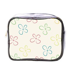Flower Background Nature Floral Mini Toiletries Bags by Simbadda