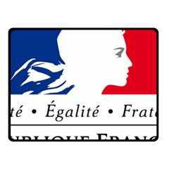 Symbol Of The French Government Fleece Blanket (small) by abbeyz71
