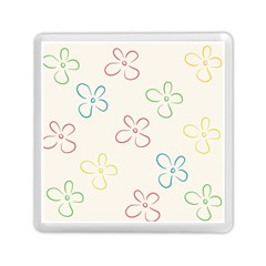 Flower Background Nature Floral Memory Card Reader (square)  by Simbadda