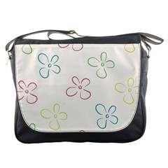 Flower Background Nature Floral Messenger Bags by Simbadda