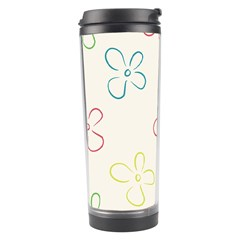 Flower Background Nature Floral Travel Tumbler by Simbadda