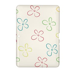 Flower Background Nature Floral Samsung Galaxy Tab 2 (10 1 ) P5100 Hardshell Case  by Simbadda