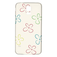 Flower Background Nature Floral Samsung Galaxy S5 Back Case (white)