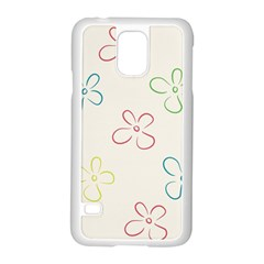 Flower Background Nature Floral Samsung Galaxy S5 Case (white)