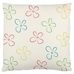 Flower Background Nature Floral Standard Flano Cushion Case (two Sides)