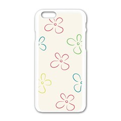 Flower Background Nature Floral Apple Iphone 6/6s White Enamel Case by Simbadda