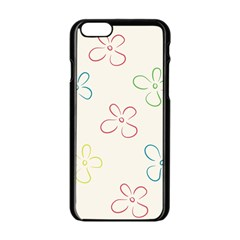 Flower Background Nature Floral Apple Iphone 6/6s Black Enamel Case