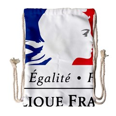Symbol Of The French Government Drawstring Bag (large) by abbeyz71