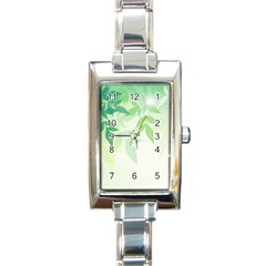 Spring Leaves Nature Light Rectangle Italian Charm Watch by Simbadda