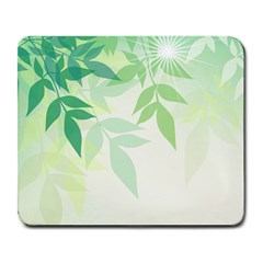 Spring Leaves Nature Light Large Mousepads by Simbadda