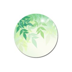 Spring Leaves Nature Light Magnet 3  (round) by Simbadda