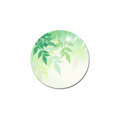 Spring Leaves Nature Light Golf Ball Marker (4 Pack) by Simbadda