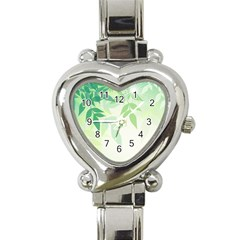 Spring Leaves Nature Light Heart Italian Charm Watch by Simbadda