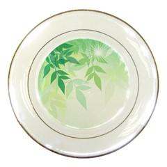 Spring Leaves Nature Light Porcelain Plates by Simbadda