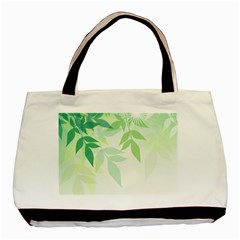 Spring Leaves Nature Light Basic Tote Bag by Simbadda