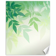Spring Leaves Nature Light Canvas 16  X 20   by Simbadda