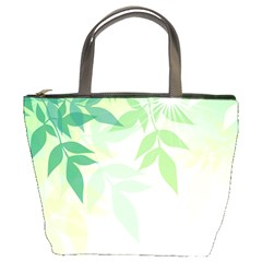 Spring Leaves Nature Light Bucket Bags by Simbadda