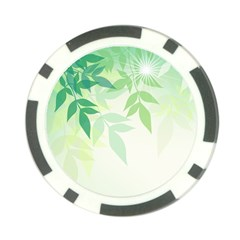 Spring Leaves Nature Light Poker Chip Card Guard (10 Pack) by Simbadda