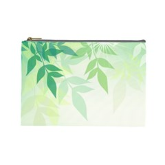 Spring Leaves Nature Light Cosmetic Bag (large)