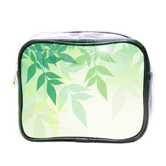 Spring Leaves Nature Light Mini Toiletries Bags by Simbadda