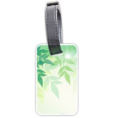 Spring Leaves Nature Light Luggage Tags (one Side)  by Simbadda