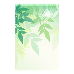 Spring Leaves Nature Light Shower Curtain 48  X 72  (small)  by Simbadda