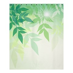 Spring Leaves Nature Light Shower Curtain 60  X 72  (medium)  by Simbadda