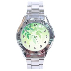 Spring Leaves Nature Light Stainless Steel Analogue Watch by Simbadda