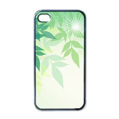 Spring Leaves Nature Light Apple Iphone 4 Case (black) by Simbadda