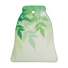Spring Leaves Nature Light Ornament (bell) by Simbadda