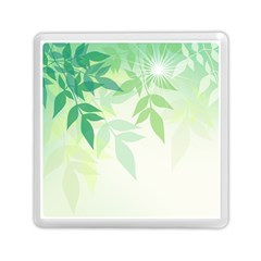 Spring Leaves Nature Light Memory Card Reader (square)  by Simbadda