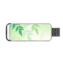Spring Leaves Nature Light Portable Usb Flash (one Side) by Simbadda