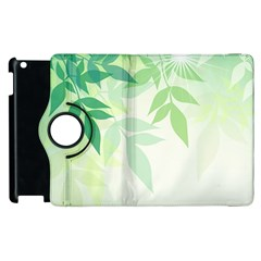 Spring Leaves Nature Light Apple Ipad 3/4 Flip 360 Case by Simbadda