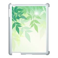 Spring Leaves Nature Light Apple Ipad 3/4 Case (white) by Simbadda