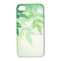Spring Leaves Nature Light Apple Iphone 4/4s Hardshell Case With Stand by Simbadda