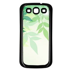 Spring Leaves Nature Light Samsung Galaxy S3 Back Case (black) by Simbadda