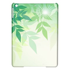 Spring Leaves Nature Light Ipad Air Hardshell Cases by Simbadda