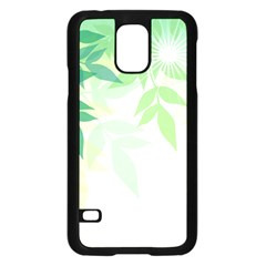 Spring Leaves Nature Light Samsung Galaxy S5 Case (black)