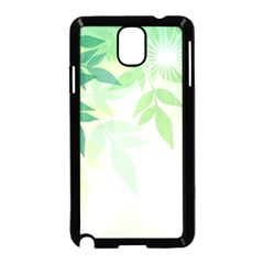 Spring Leaves Nature Light Samsung Galaxy Note 3 Neo Hardshell Case (black) by Simbadda