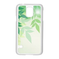 Spring Leaves Nature Light Samsung Galaxy S5 Case (white)